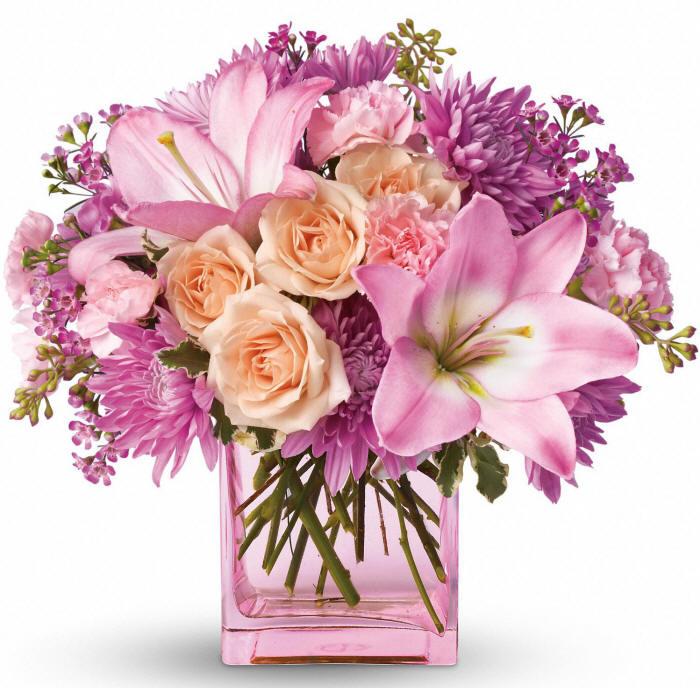 прелестный розовый букетик