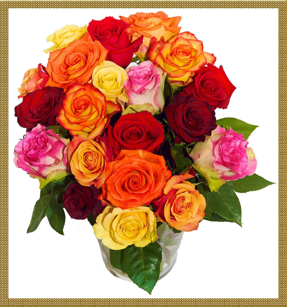 Подарить розы разных цветов