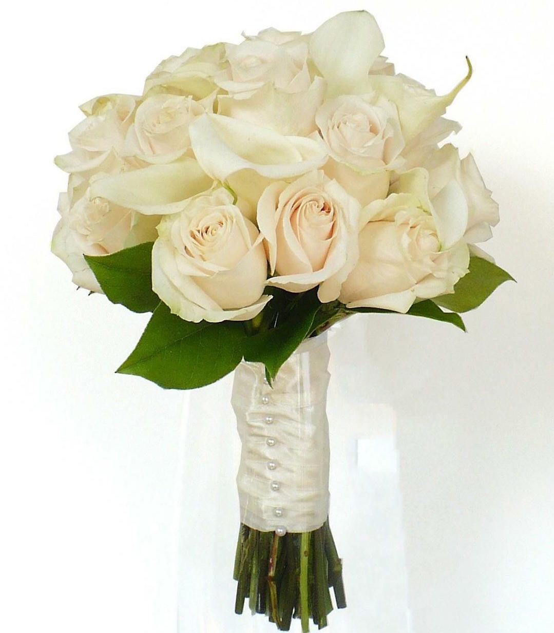 Чайные розы букет невесты
