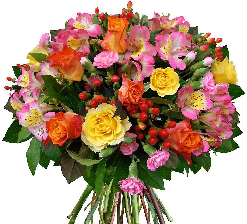 Цветы в букет