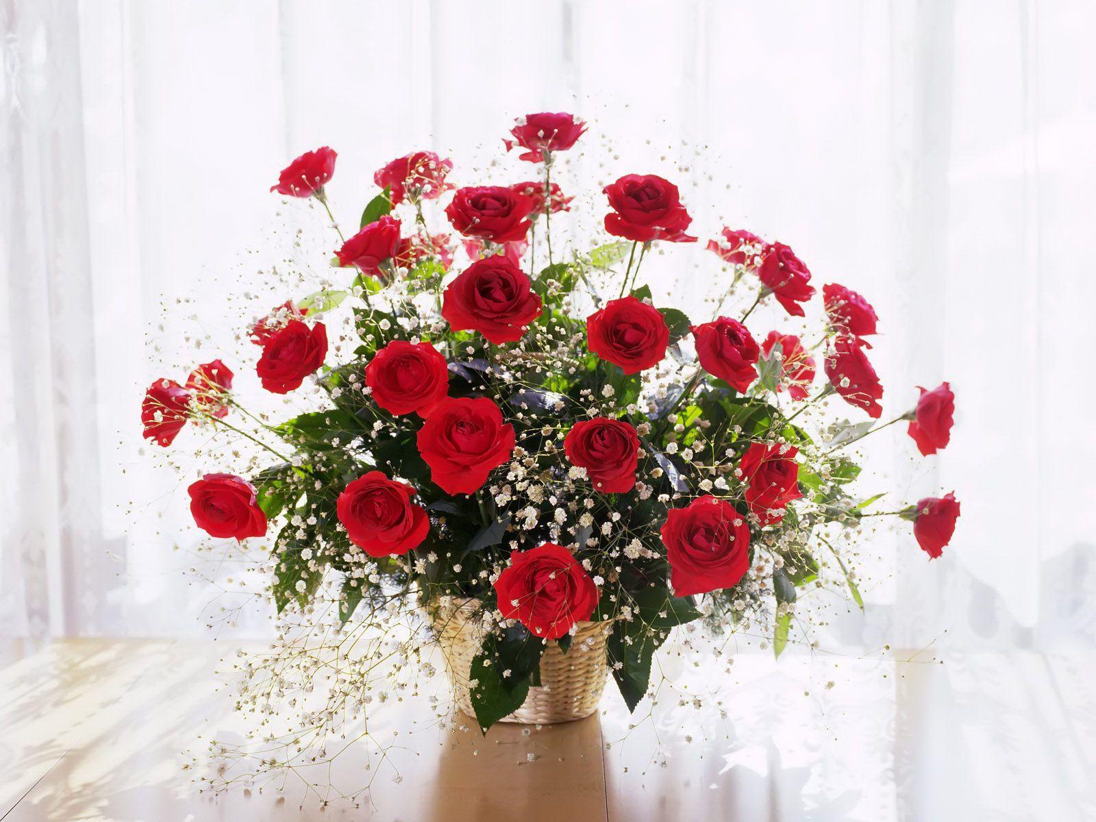 Фото букет цветов роз анимация