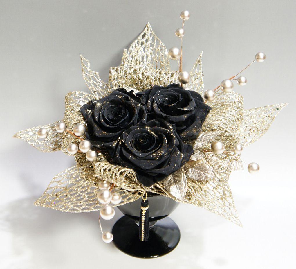 Букет черных роз фото