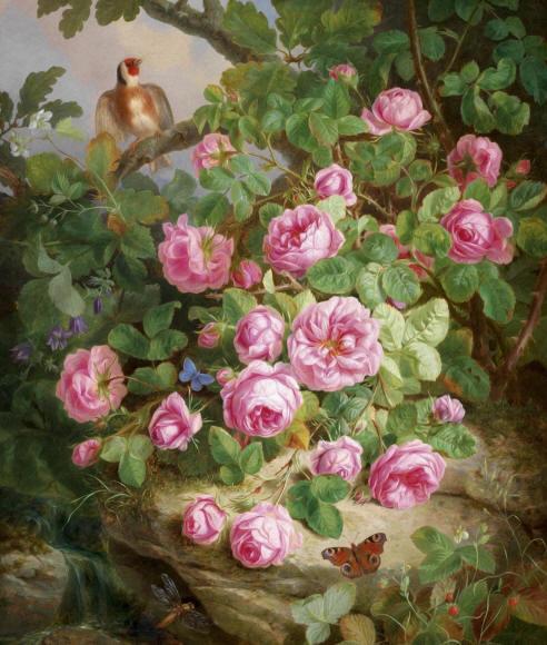 Нарисованные розы