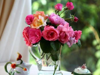букетик садовых цветов