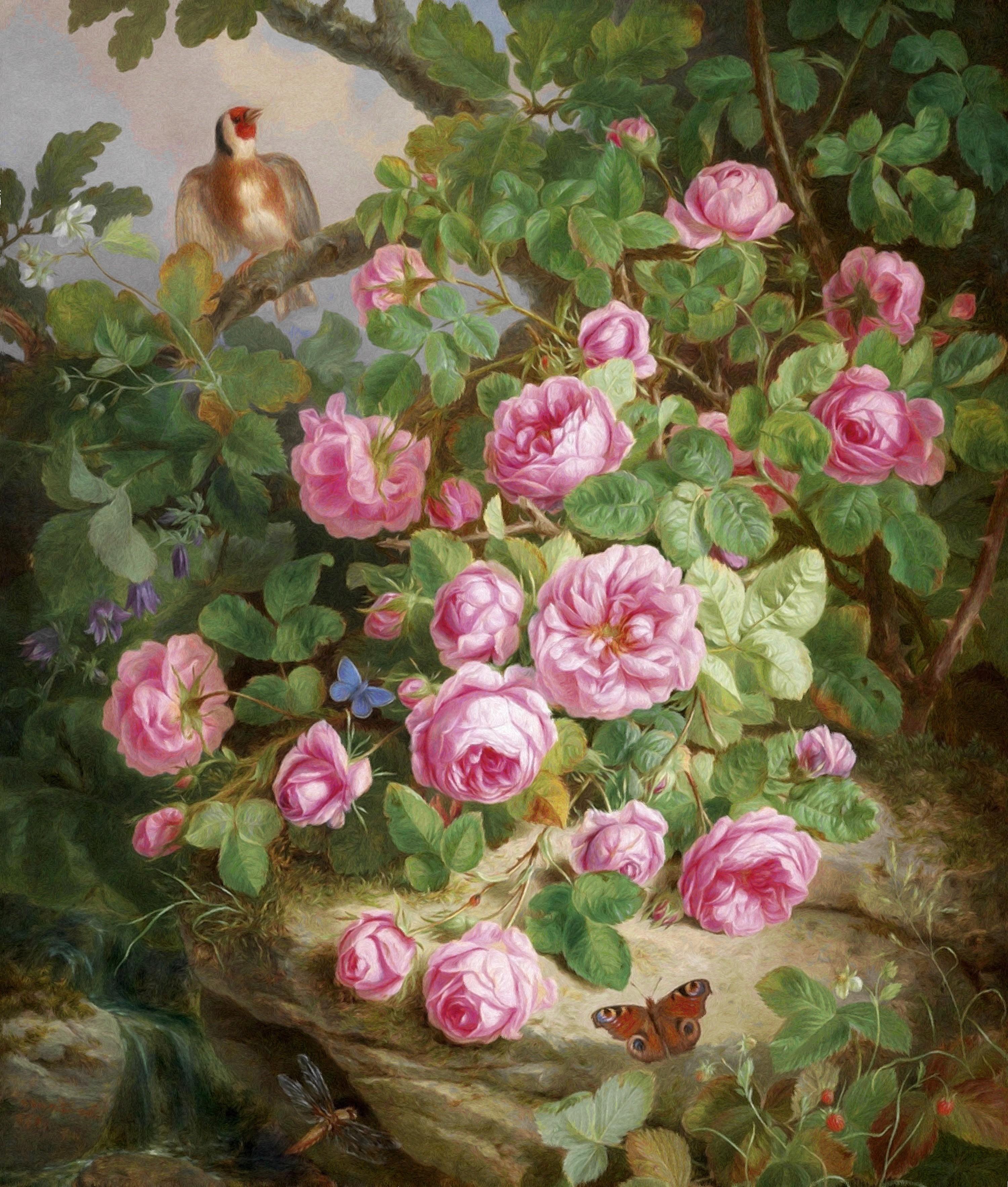 Нарисованные розы - 2ebb