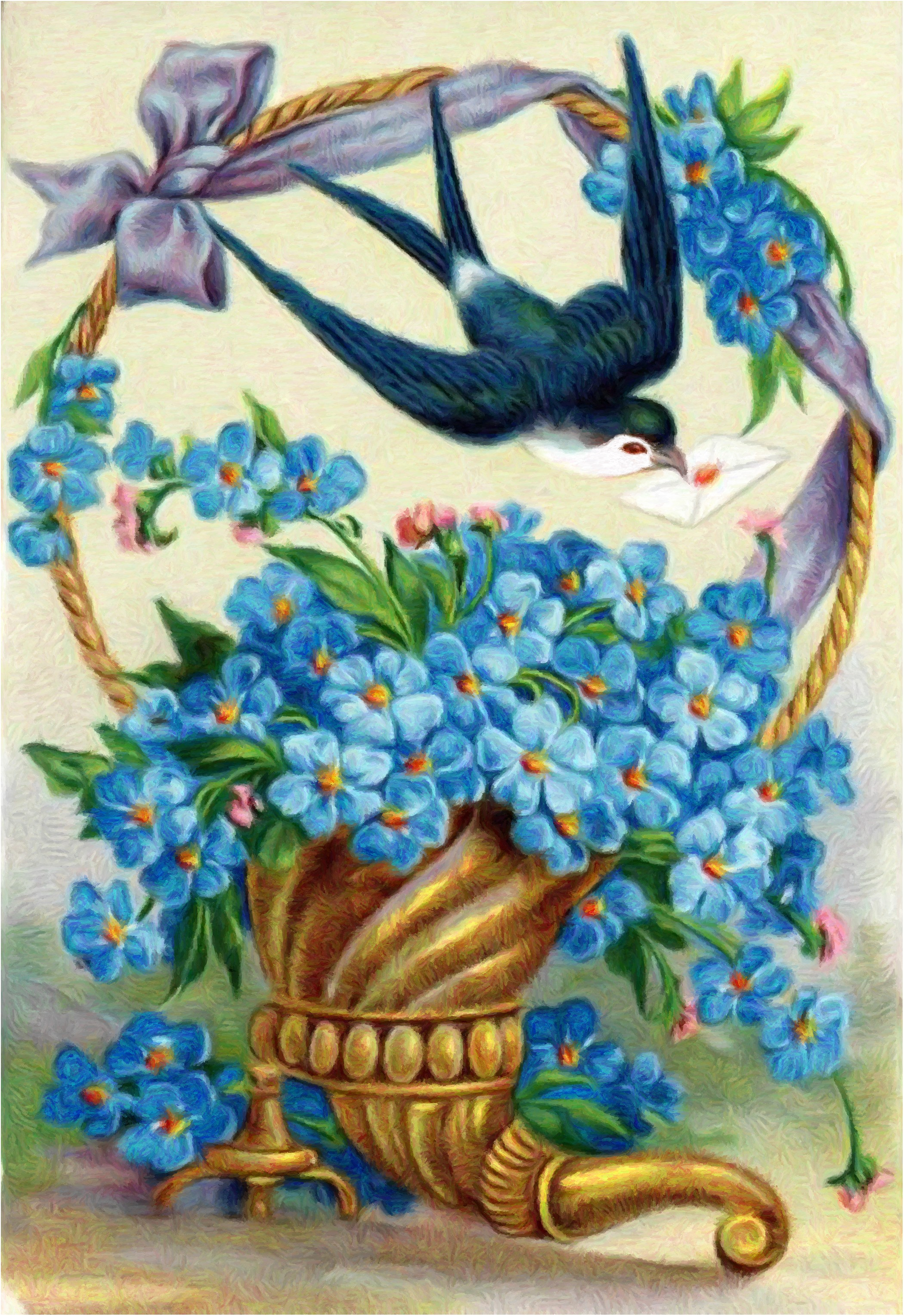 Картинки с днем рождения птица